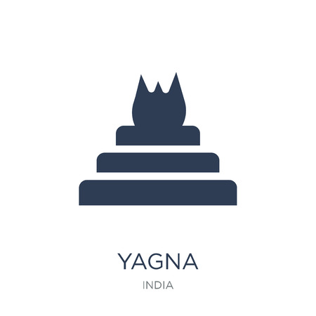 Yagna icon. Trendy flat vector Yagna icon on white background from india collection, vector illustration can be use for web and mobile, eps10