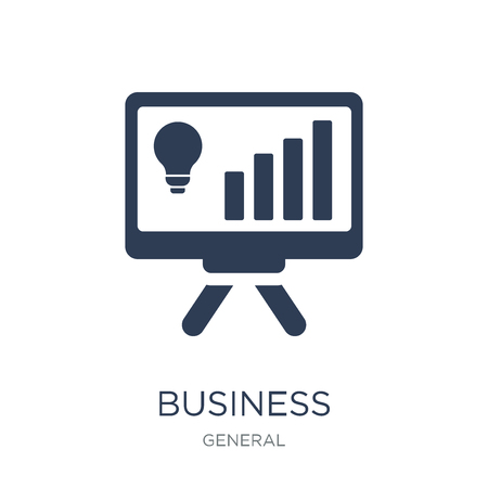 business intelligence icon. Trendy flat vector business intelligence icon on white background from general collection, vector illustration can be use for web and mobile, eps10