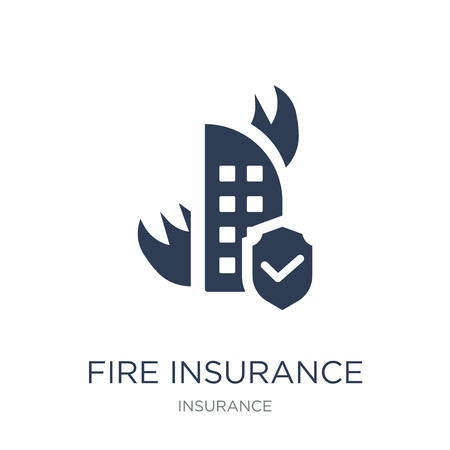 Fire insurance icon. Trendy flat vector Fire insurance icon on white background from Insurance collection, vector illustration can be use for web and mobile, eps10