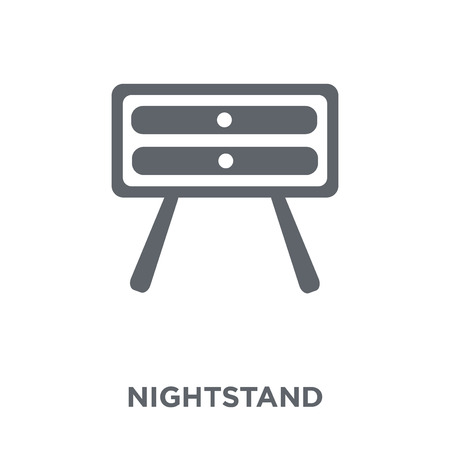 Nightstand icon. Nightstand design concept from Hotel collection. Simple element vector illustration on white background. Illustration