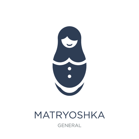 matryoshka icon. Trendy flat vector matryoshka icon on white background from General collection, vector illustration can be use for web and mobile, eps10 Standard-Bild - 112100382