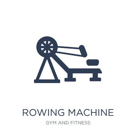 Rowing Machine icon. Trendy flat vector Rowing Machine icon on white background from Gym and fitness collection, vector illustration can be use for web and mobile, eps10