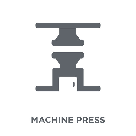Machine press icon. Machine press design concept from Industry collection. Simple element vector illustration on white background.