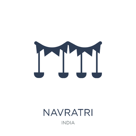 navratri icon. Trendy flat vector navratri icon on white background from india collection, vector illustration can be use for web and mobile, eps10