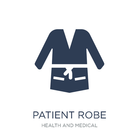 Patient robe icon. Trendy flat vector Patient robe icon on white background from Health and Medical collection, vector illustration can be use for web and mobile, eps10