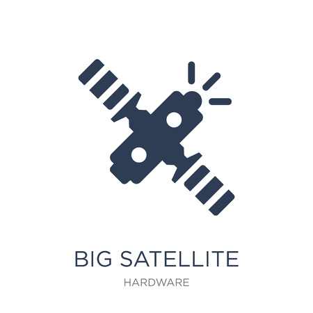 Big Satellite icon. Trendy flat vector Big Satellite icon on white background from hardware collection, vector illustration can be use for web and mobile, eps10