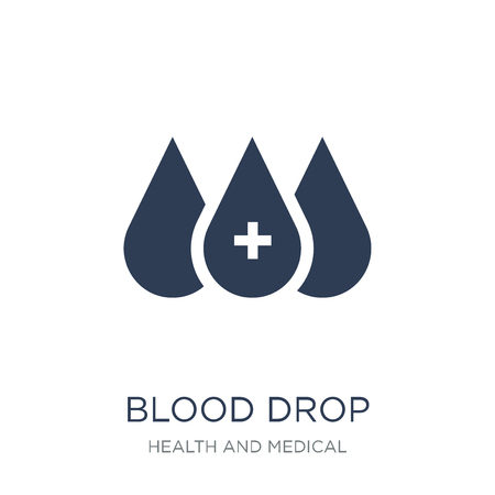 Blood drop icon. Trendy flat vector Blood drop icon on white background from Health and Medical collection, vector illustration can be use for web and mobile, eps10