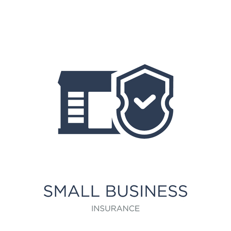 small business insurance icon. Trendy flat vector small business insurance icon on white background from Insurance collection, vector illustration can be use for web and mobile, eps10