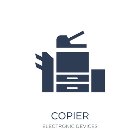 copier icon. Trendy flat vector copier icon on white background from Electronic devices collection, vector illustration can be use for web and mobile, eps10