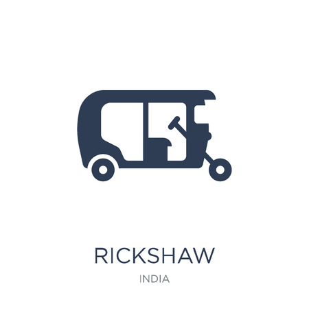 Rickshaw icon. Trendy flat vector Rickshaw icon on white background from india collection, vector illustration can be use for web and mobile, eps10