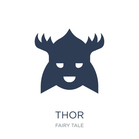 Thor icon. Trendy flat vector Thor icon on white background from Fairy Tale collection, vector illustration can be use for web and mobile, eps10 Illustration