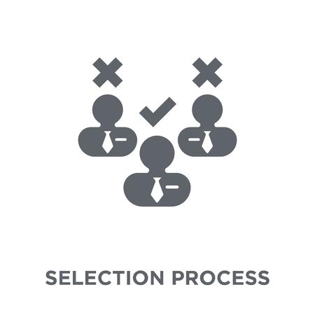 Icône de processus de sélection. Concept de conception de processus de sélection de la collection des ressources humaines. Illustration vectorielle élément simple sur fond blanc.