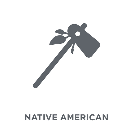 Native American Tomahawk icon. Native American Tomahawk design concept from American Indigenous Signals collection. Simple element vector illustration on white background.