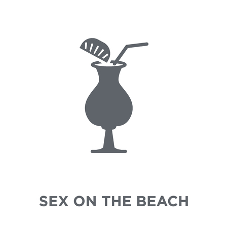Sex on the Beach icon. Sex on the Beach design concept from Drinks collection. Simple element vector illustration on white background. Illustration