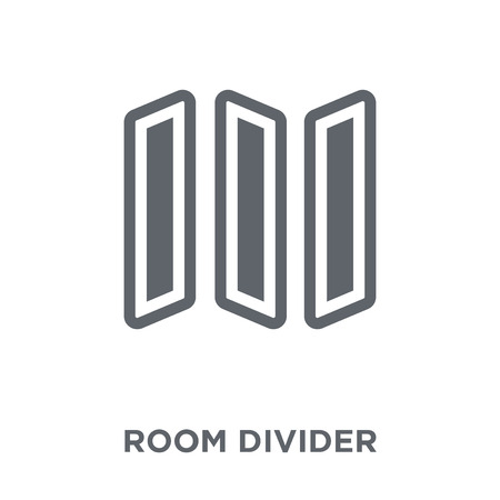 room divider  icon. room divider  design concept from Furniture and household collection. Simple element vector illustration on white background.  イラスト・ベクター素材