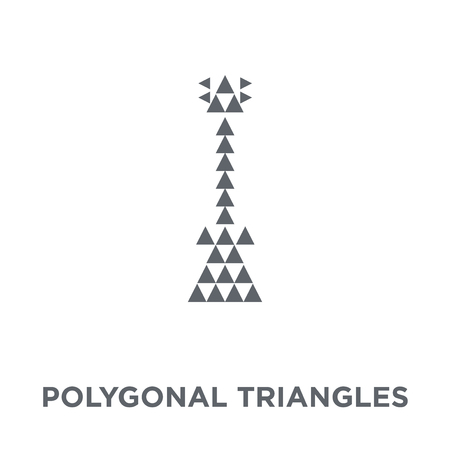 Polygonal triangles guitar icon. Polygonal triangles guitar design concept from Geometry collection. Simple element vector illustration on white background.