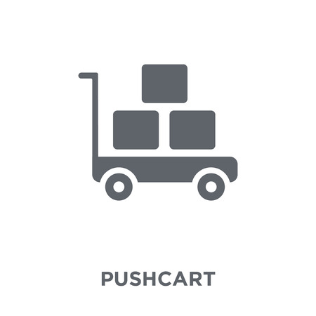 Pushcart icon. Pushcart design concept from  collection. Simple element vector illustration on white background. Stock Vector - 111974141