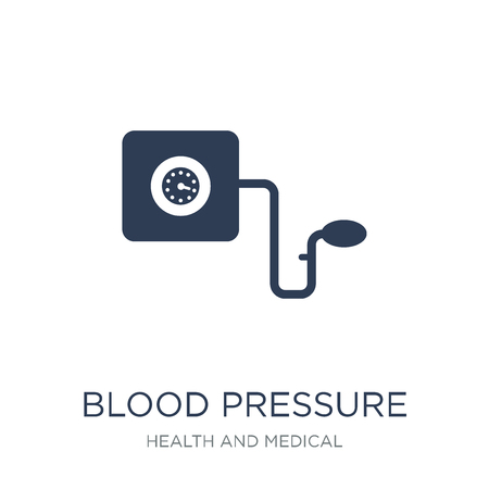 Blood Pressure Gauge icon. Trendy flat vector Blood Pressure Gauge icon on white background from Health and Medical collection, vector illustration can be use for web and mobile, eps10