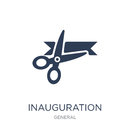 inauguration icon. Trendy flat vector inauguration icon on white background from general collection, vector illustration can be use for web and mobile, eps10