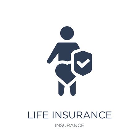 Life insurance icon. Trendy flat vector Life insurance icon on white background from Insurance collection, vector illustration can be use for web and mobile, eps10