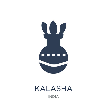 Kalasha icon. Trendy flat vector Kalasha icon on white background from india collection, vector illustration can be use for web and mobile, eps10