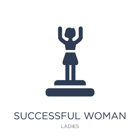 Successful woman icon. Trendy flat vector Successful woman icon on white background from Ladies collection, vector illustration can be use for web and mobile, eps10