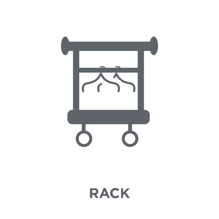 Rack icon. Rack design concept from Furniture and household collection. Simple element vector illustration on white background. Illustration