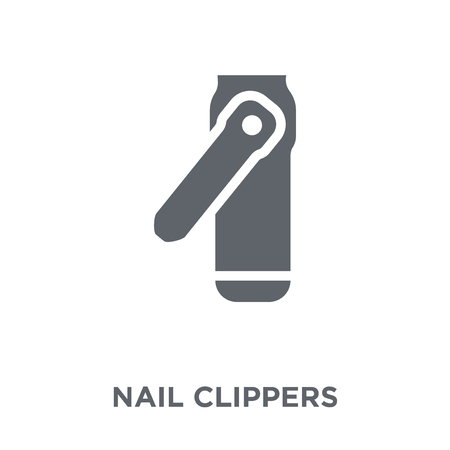 Nail clippers icon. Nail clippers design concept from collection. Simple element vector illustration on white background.