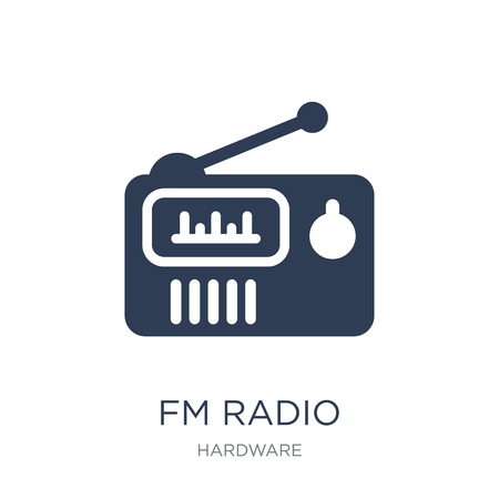 FM Radio icon. Trendy flat vector FM Radio icon on white background from hardware collection, vector illustration can be use for web and mobile, eps10 Ilustrace