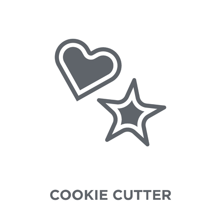 cookie cutter icon. cookie cutter design concept from Kitchen collection. Simple element vector illustration on white background.