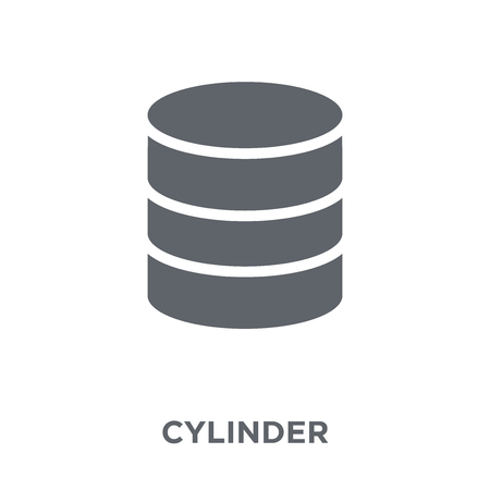 Cylinder icon. Cylinder design concept from Geometry collection. Simple element vector illustration on white background.