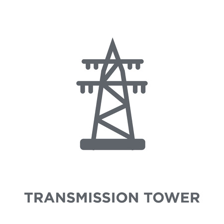 Transmission tower icon. Transmission tower design concept from Industry collection. Simple element vector illustration on white background.