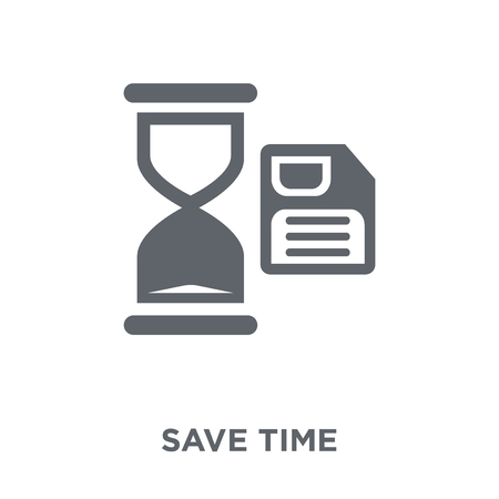 Save time icon. Save time design concept from Time managemnet collection. Simple element vector illustration on white background.
