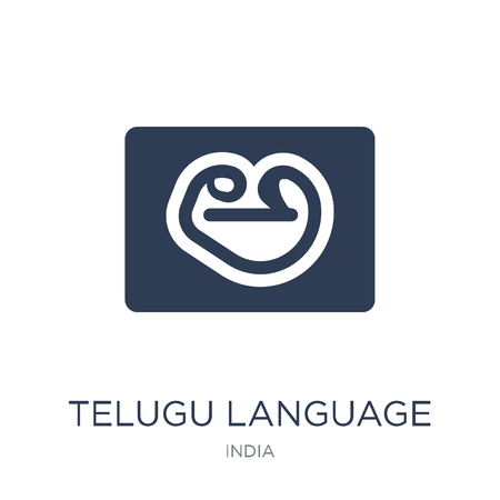 telugu language icon. Trendy flat vector telugu language icon on white background from india collection, vector illustration can be use for web and mobile, eps10