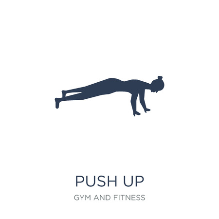 Push up icon. Trendy flat vector Push up icon on white background from Gym and fitness collection, vector illustration can be use for web and mobile, eps10