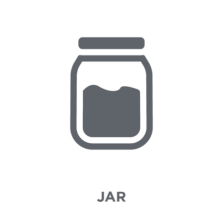 jar icon. jar design concept from  collection. Simple element vector illustration on white background.