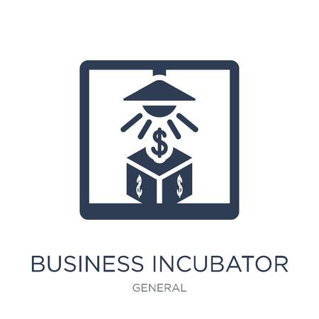 icono de incubadora de empresas. Icono de incubadora de negocios de moda vector plano sobre fondo blanco de colección general, Ilustración de vectores se puede utilizar para web y móvil, eps10