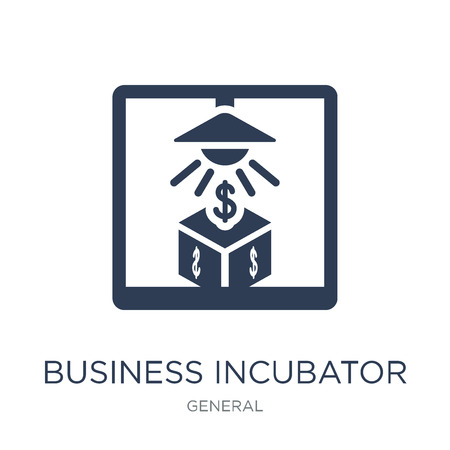 business incubator icon. Trendy flat vector business incubator icon on white background from general collection, vector illustration can be use for web and mobile, eps10