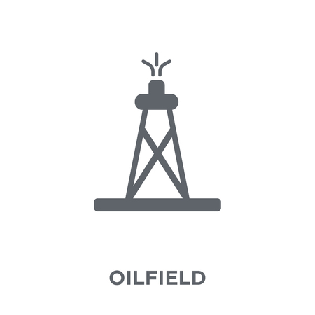 Oilfield icon. Oilfield design concept from  collection. Simple element vector illustration on white background. Illustration