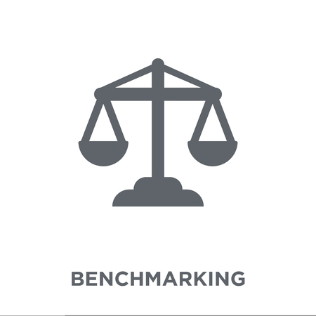 Benchmarking icon. Benchmarking design concept from Time managemnet collection. Simple element vector illustration on white background. Stok Fotoğraf - 112100568