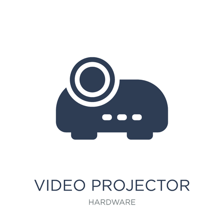 Video projector icon. Trendy flat vector Video projector icon on white background from hardware collection, vector illustration can be use for web and mobile, eps10