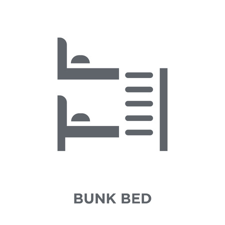 Bunk bed icon. Bunk bed design concept from Hotel collection. Simple element vector illustration on white background. Illustration