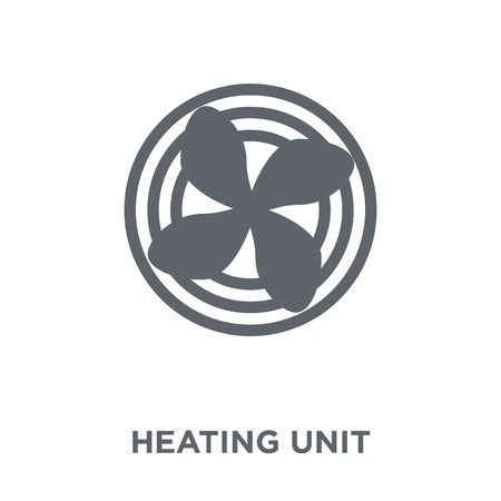 Icône de l'unité de chauffage. Concept de design d'unité de chauffage de la collection Mobilier et ménage. Illustration vectorielle élément simple sur fond blanc.