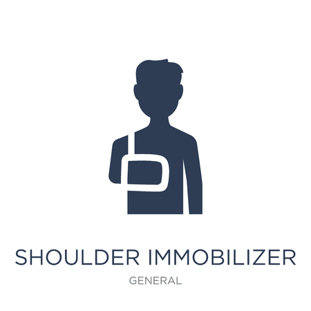 shoulder immobilizer icon. Trendy flat vector shoulder immobilizer icon on white background from General collection, vector illustration can be use for web and mobile, eps10