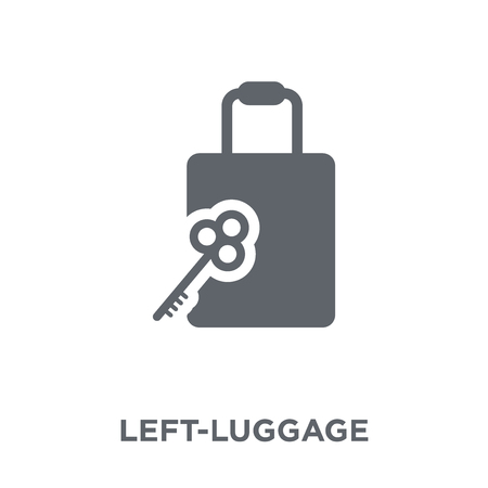 Left-luggage icon. Left-luggage design concept from Hotel collection. Simple element vector illustration on white background.