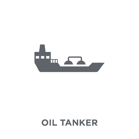 Oil tanker icon. Oil tanker design concept from  collection. Simple element vector illustration on white background. Banco de Imagens - 112101860