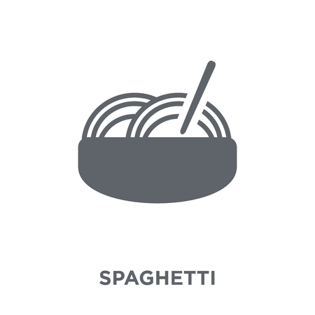 Spaghetti icon. Spaghetti design concept from Restaurant collection. Simple element vector illustration on white background. Illustration