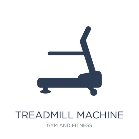 Treadmill machine icon. Trendy flat vector Treadmill machine icon on white background from Gym and fitness collection, vector illustration can be use for web and mobile, eps10 Ilustracje wektorowe