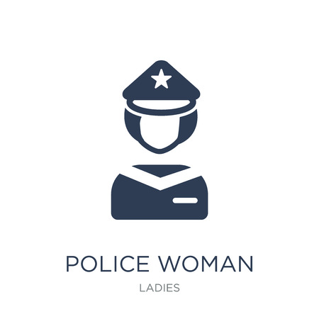Police Woman icon. Trendy flat vector Police Woman icon on white background from Ladies collection, vector illustration can be use for web and mobile, eps10