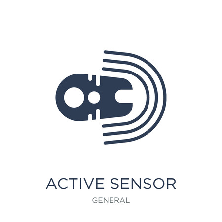 active sensor icon. Trendy flat vector active sensor icon on white background from general collection, vector illustration can be use for web and mobile, eps10 Stok Fotoğraf - 112101872